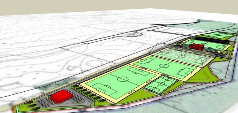 Koncepcja centrum sportowego – boiska do piłki nożnej