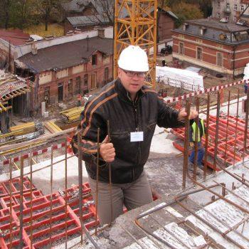 Centrum usługowe w budowie w Białymstoku